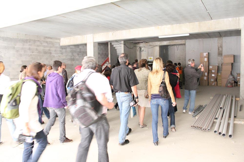Maison de l 39 architecture de savoie visite de chantier for Visite de chantier
