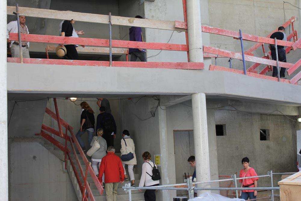 maison de l'architecture de savoie | visite de chantier les halles