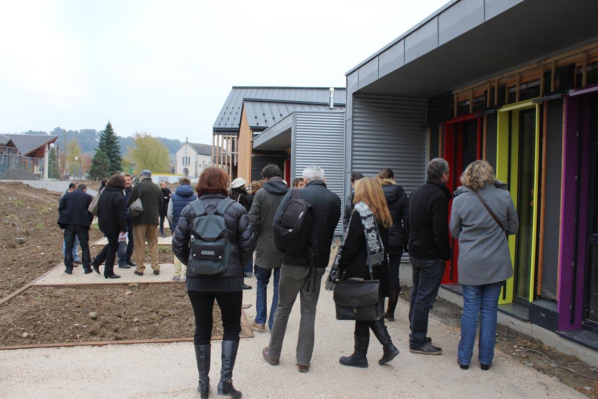 maison de l'architecture de savoie | visite de chantier de l'école à st Helene du lac