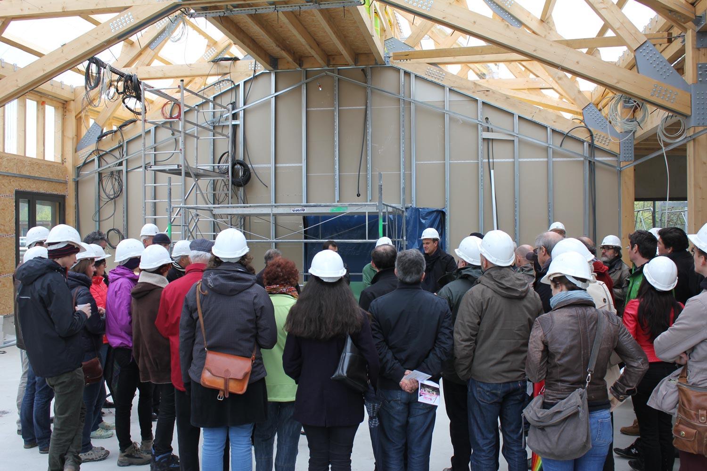maison de l'architecture de savoie | visite de chantier la maison du lac d' aiguebelette