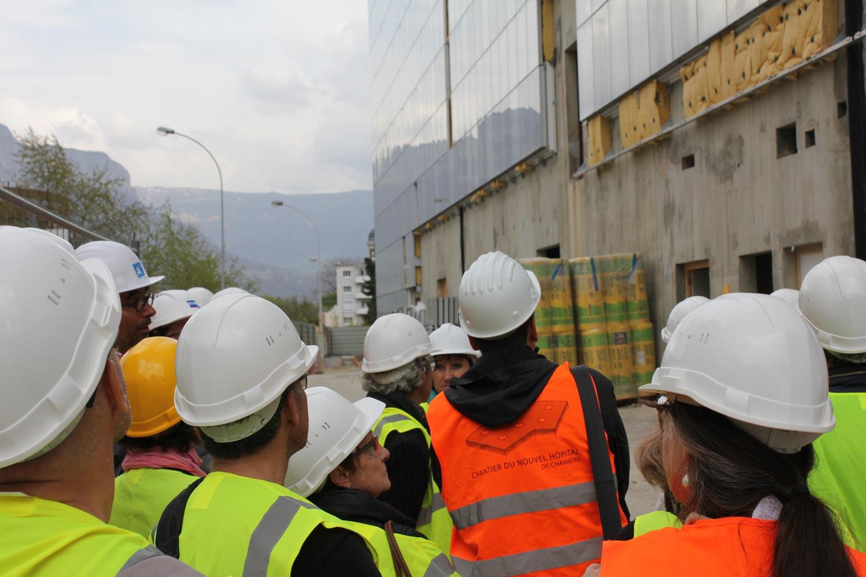 maison de l'architecture de savoie | visite de chantier du nouvel hôpital