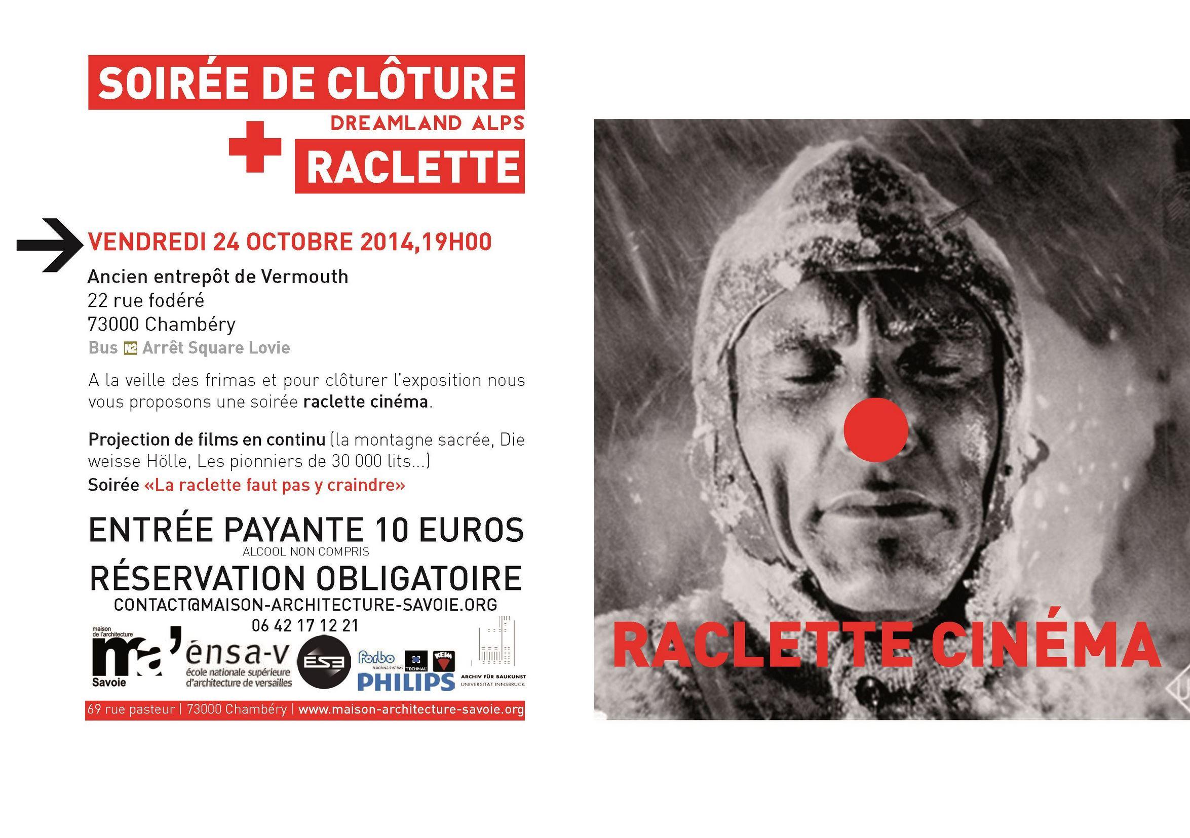 maison de l'architecture de savoie - soirée raclette - soirée de clôture exposition Dreamland Apls