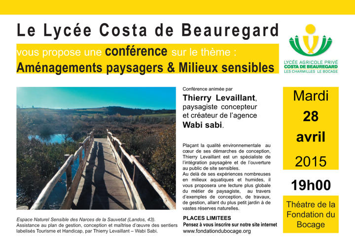 Conférence au lycée le bocage à Chambéry