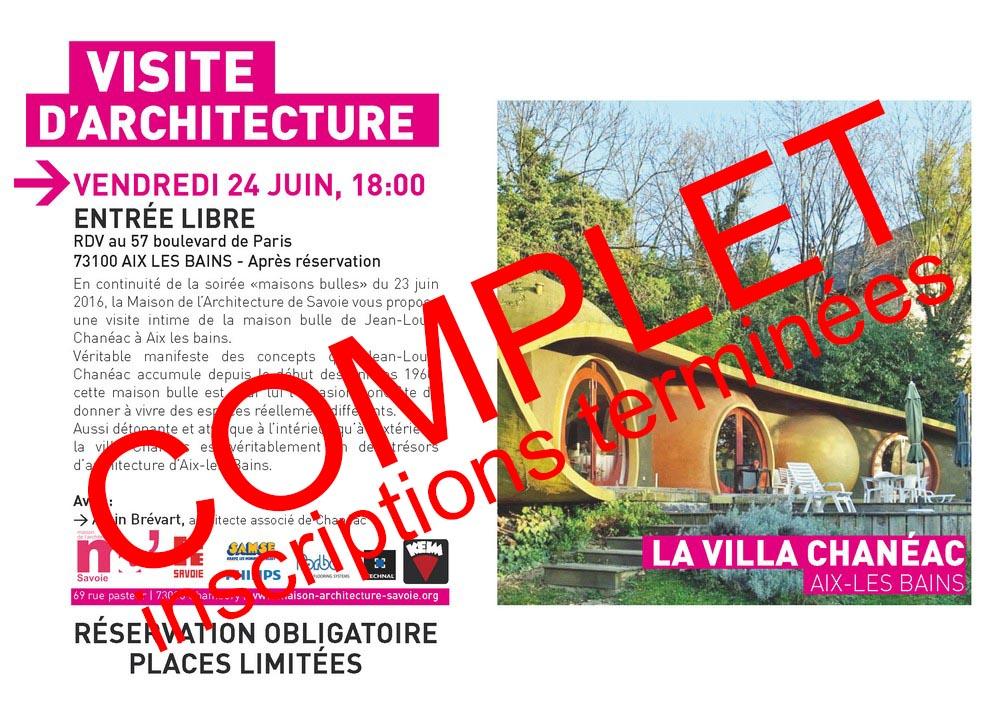 maison de l'architecture de savoie - visite de la villa chanéac à aix les bains